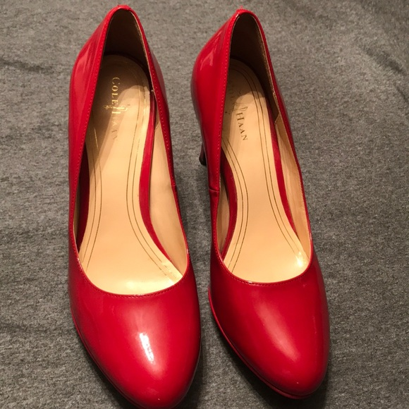 fc7f30d9ca1 👠 Cole Haan Nike Air Red Patent Leather Heels 8.5